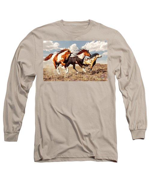 Galloping Mustangs Long Sleeve T-Shirt