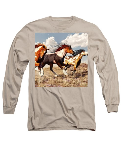Galloping Mustangs Long Sleeve T-Shirt