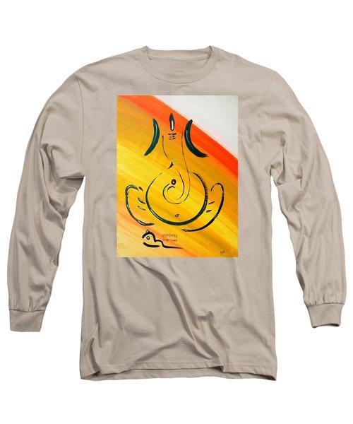 8 Ganesh Ekdhantaya Long Sleeve T-Shirt by Kruti Shah