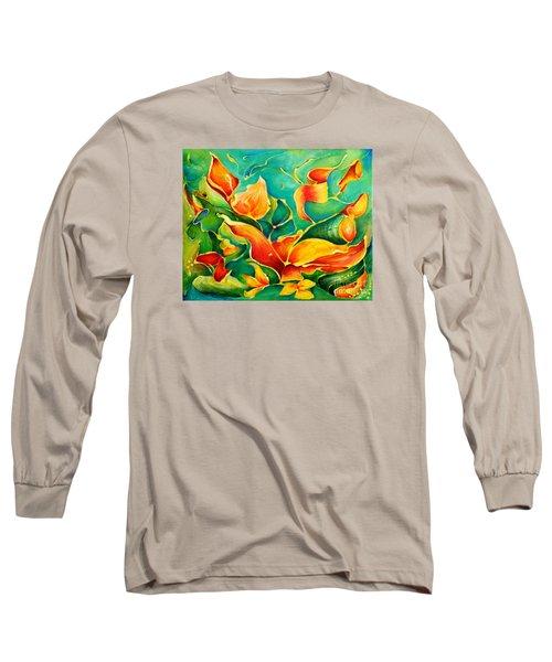 Garden Series No.3 Long Sleeve T-Shirt by Teresa Wegrzyn
