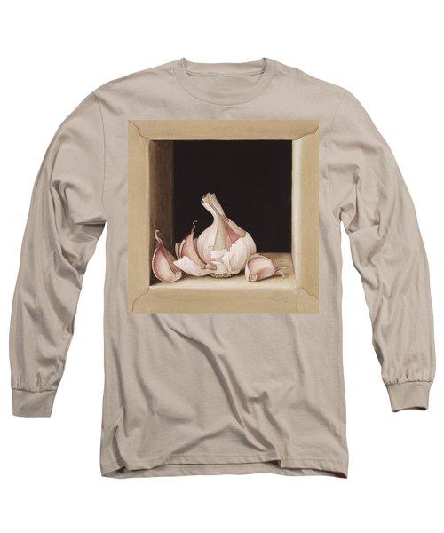 Garlic Long Sleeve T-Shirt by Jenny Barron