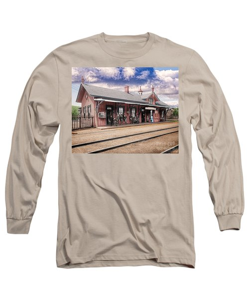 Garrison Train Station Colorized Long Sleeve T-Shirt
