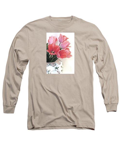 Gathered Tulips Long Sleeve T-Shirt
