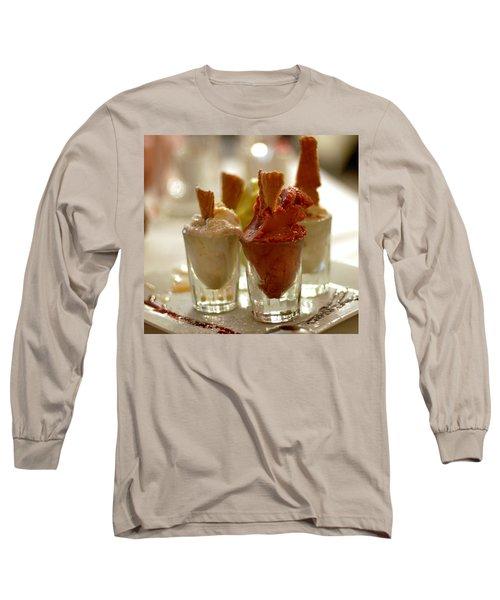 Gelato At Manducati's Rustica Long Sleeve T-Shirt by Steve Archbold