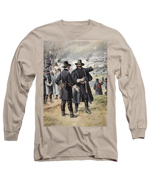 General Burnside At The Battle Long Sleeve T-Shirt