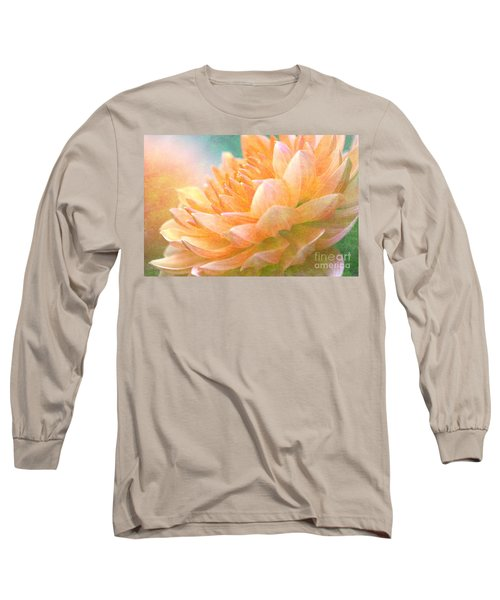 Gently Textured Dahlia  Long Sleeve T-Shirt