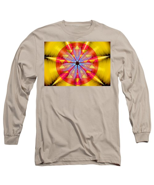 Geo-cosmic Sri Yantra Long Sleeve T-Shirt