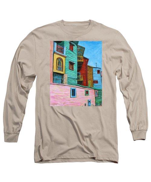 Geometric Colours II Long Sleeve T-Shirt by Xueling Zou