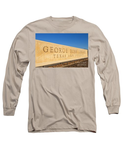 George H. Bush Library, Texas Long Sleeve T-Shirt