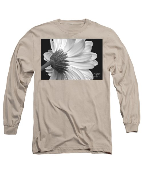 Gerbera Daisy Monochrome Long Sleeve T-Shirt