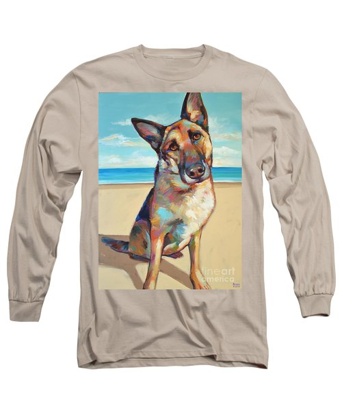 Long Sleeve T-Shirt featuring the painting German Shepard  by Robert Phelps