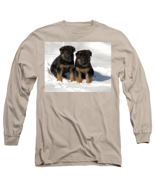 Long Sleeve T-Shirt featuring the photograph German Shepherd Pups by Aimee L Maher Photography and Art Visit ALMGallerydotcom
