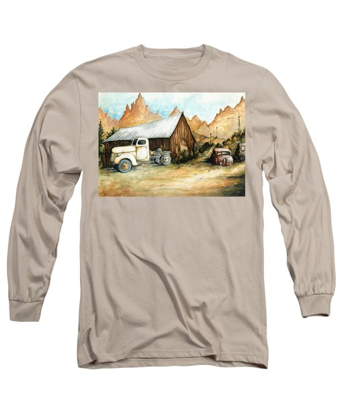 Ghost Town Nevada - Western Art Painting Long Sleeve T-Shirt