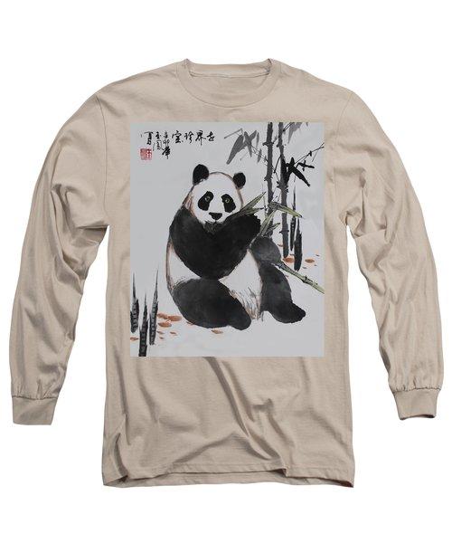 Long Sleeve T-Shirt featuring the photograph Giant Panda by Yufeng Wang