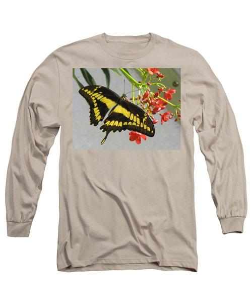 Giant Swallowtail Long Sleeve T-Shirt by Jennifer Wheatley Wolf