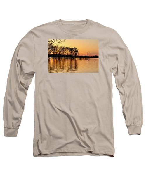 Gilded Sunset Long Sleeve T-Shirt by Julie Andel