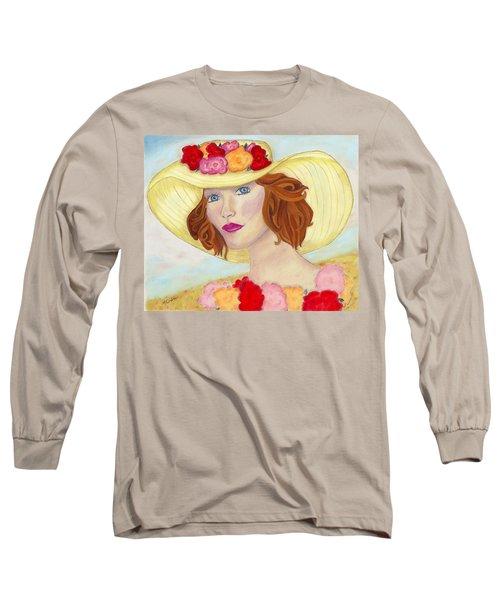 Ginger Long Sleeve T-Shirt by Arlene Crafton