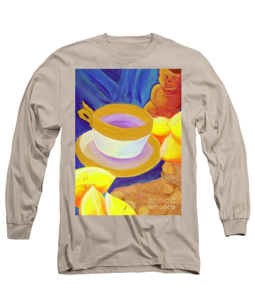 Ginger Lemon Tea By Jrr Long Sleeve T-Shirt