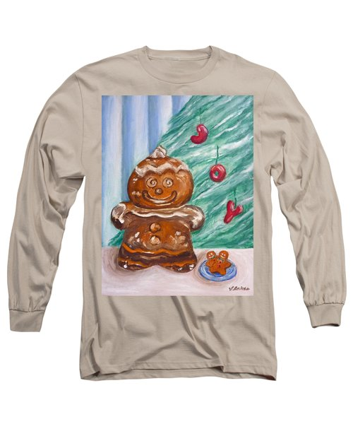 Gingerbread Cookies Long Sleeve T-Shirt by Victoria Lakes