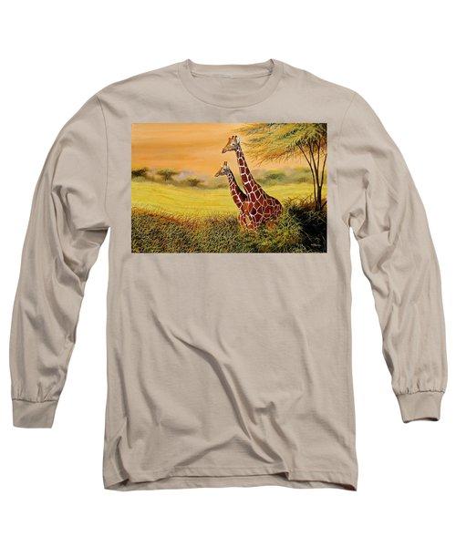Giraffes Watching Long Sleeve T-Shirt