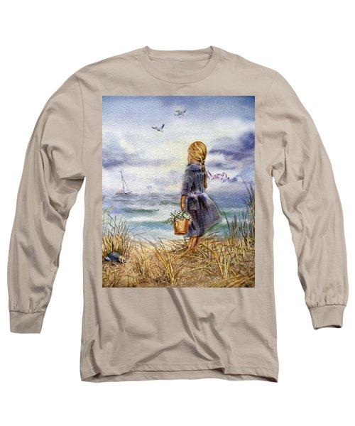 Girl And The Ocean Long Sleeve T-Shirt