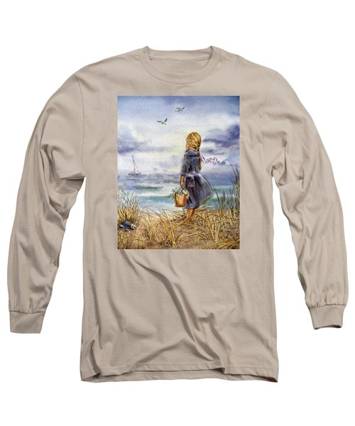 Girl And The Ocean Long Sleeve T-Shirt