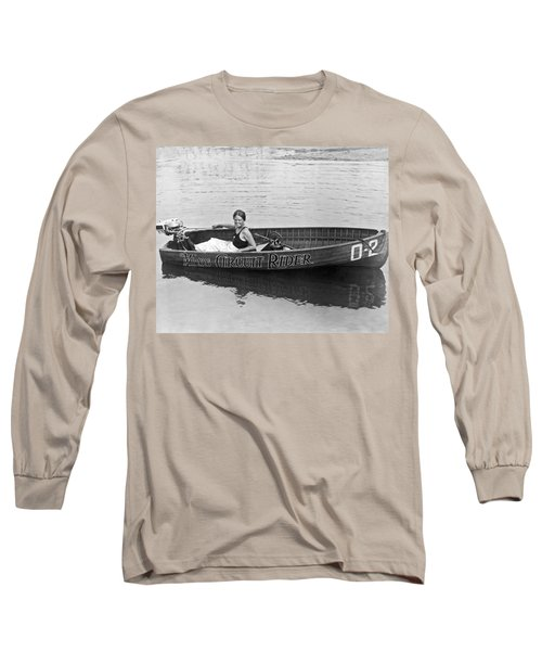 Girl Speedboatdriver To Race In President's Cup Races Long Sleeve T-Shirt
