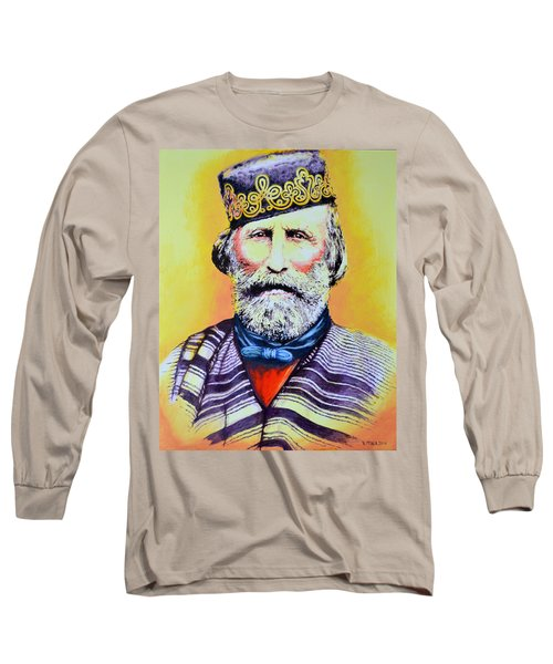 Giuseppe Garibaldi Long Sleeve T-Shirt by Victor Minca