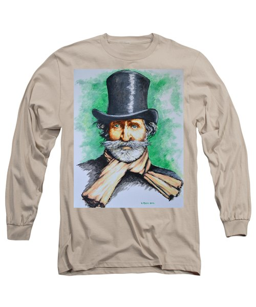 Giuseppe Verdi Long Sleeve T-Shirt by Victor Minca