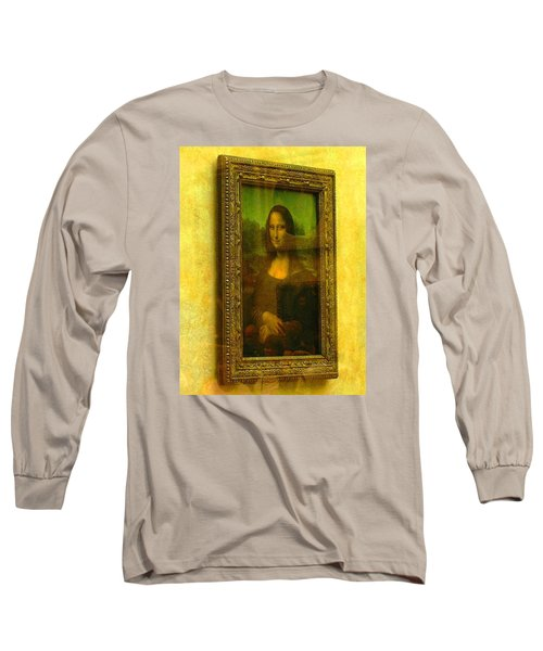 Glance At Mona Lisa Long Sleeve T-Shirt by Oleg Zavarzin