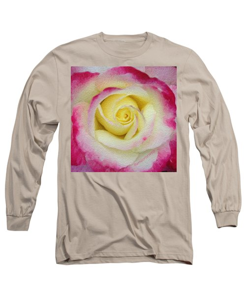Glazed Red-tipped Rose Long Sleeve T-Shirt