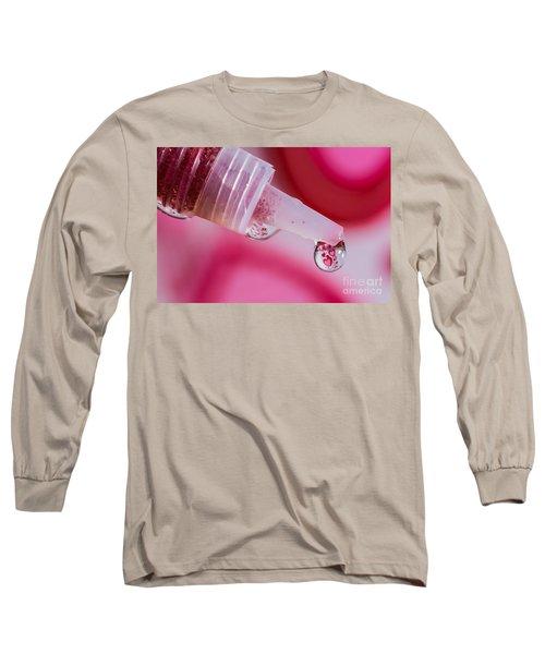 Glitter Love Drop Long Sleeve T-Shirt