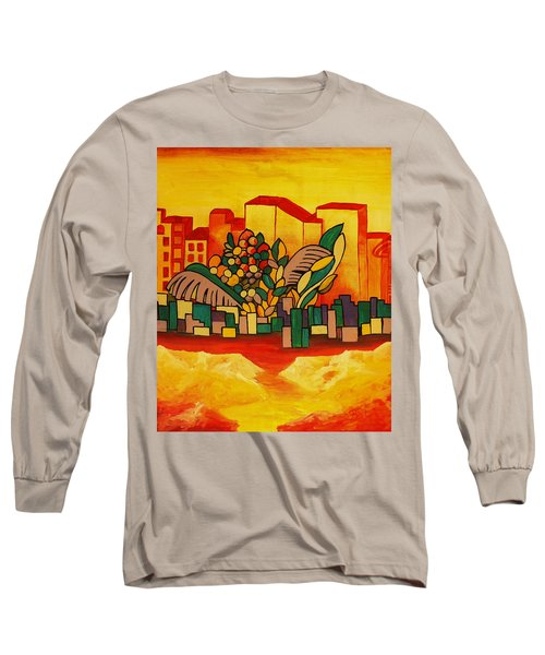Long Sleeve T-Shirt featuring the painting Global Warning by Barbara St Jean