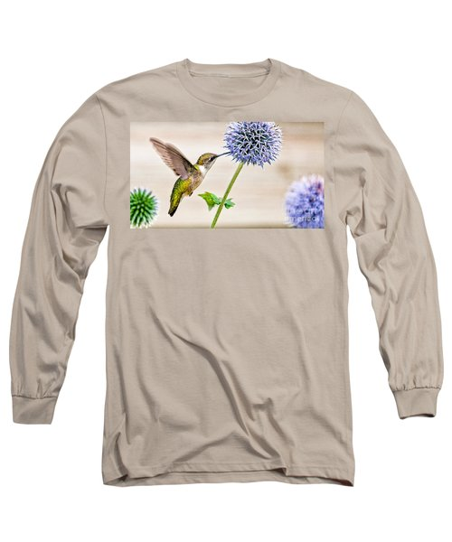 Globe Thistle Hummer Long Sleeve T-Shirt