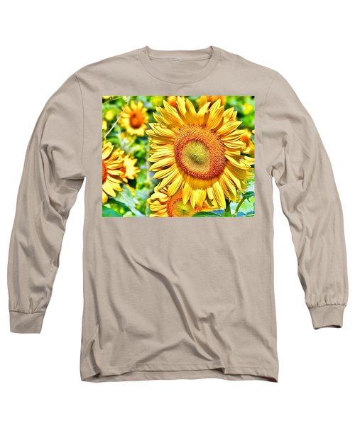 Glorious Sunflowers Long Sleeve T-Shirt