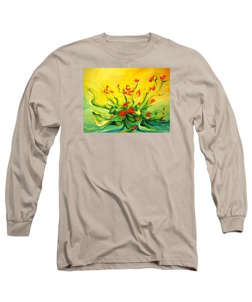 Long Sleeve T-Shirt featuring the painting Glorious by Teresa Wegrzyn