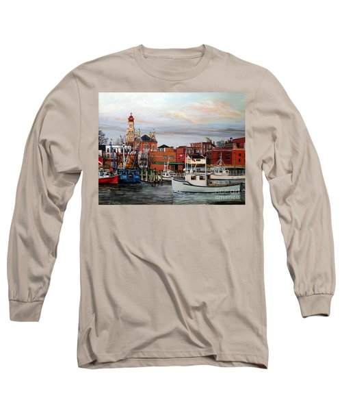 Gloucester Harbor Long Sleeve T-Shirt by Eileen Patten Oliver