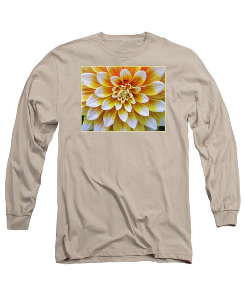 Glowing Dahlia Long Sleeve T-Shirt by Dora Sofia Caputo Photographic Art and Design