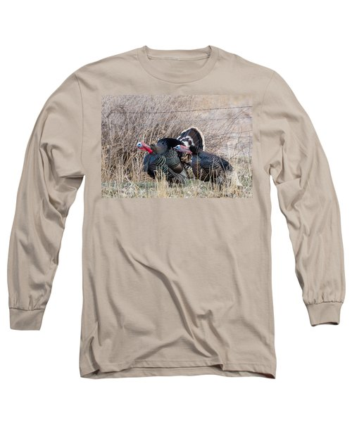 Gobbling Turkeys Long Sleeve T-Shirt