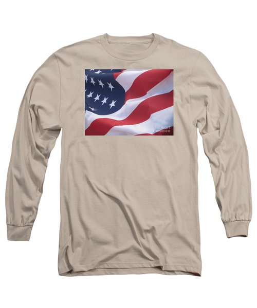 Long Sleeve T-Shirt featuring the photograph God Bless America by Chrisann Ellis