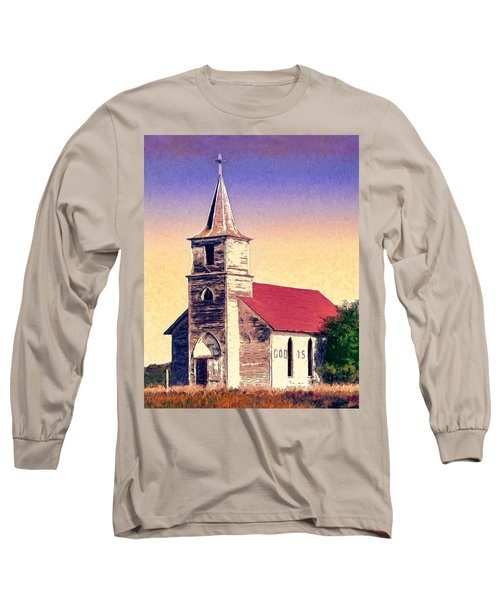 God Is Long Sleeve T-Shirt by Dominic Piperata