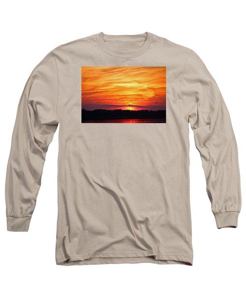 God Paints The Sky Long Sleeve T-Shirt by Cynthia Guinn