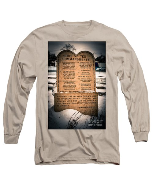 God's Ten Commandments Long Sleeve T-Shirt