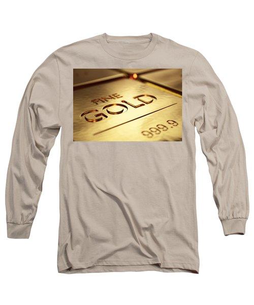 Gold Bars Close-up Long Sleeve T-Shirt