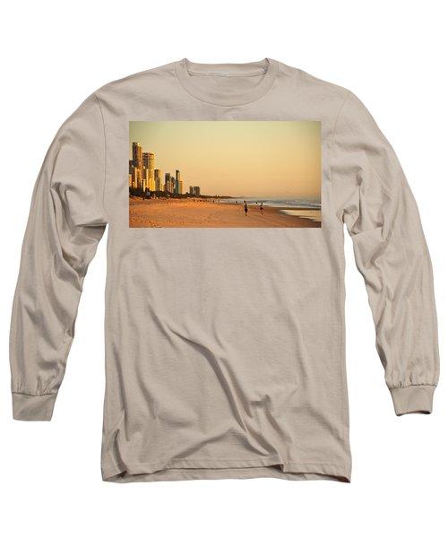 Long Sleeve T-Shirt featuring the photograph Gold Coast Beach by Eric Tressler
