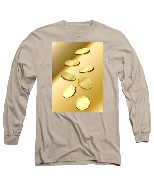 Gold Coins Long Sleeve T-Shirt by Cyril Maza