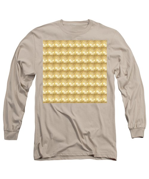 Long Sleeve T-Shirt featuring the photograph Gold Sparkle Tone Pattern Unique Graphics by Navin Joshi