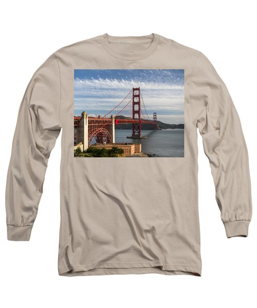 Golden Gate Bridge Morning Light Long Sleeve T-Shirt