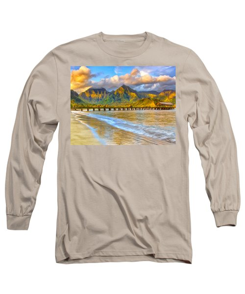 Golden Hanalei Morning Long Sleeve T-Shirt