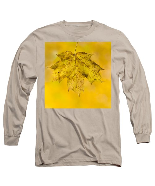 Long Sleeve T-Shirt featuring the photograph Golden Maple Leaf by Sebastian Musial